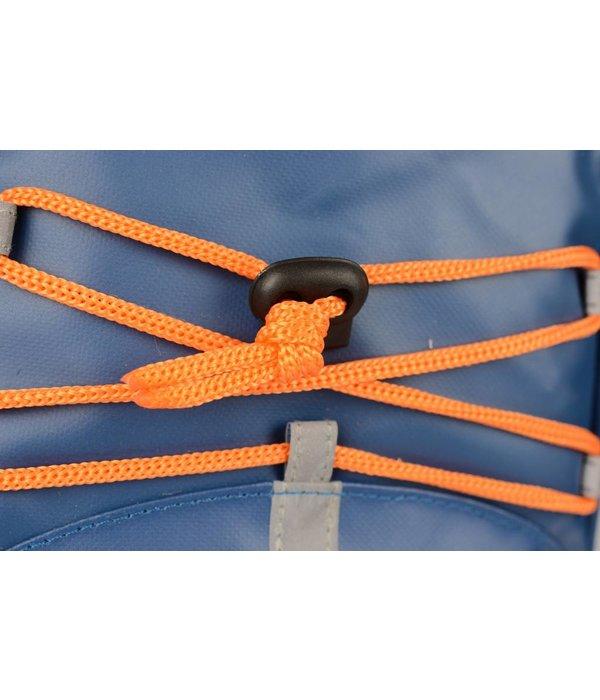 Discovery Adventures stoere blauwe kinder rugzak met oranje details