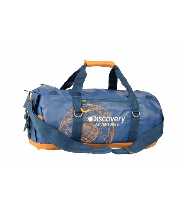Discovery Adventures stoere blauwe roll bag Discovery met oranje details