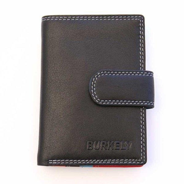 kleine luxe zwarte MULTICOLOUR portemonnee staand