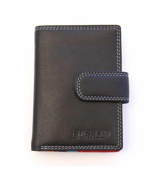 Burkely kleine luxe zwarte MULTICOLOUR portemonnee staand