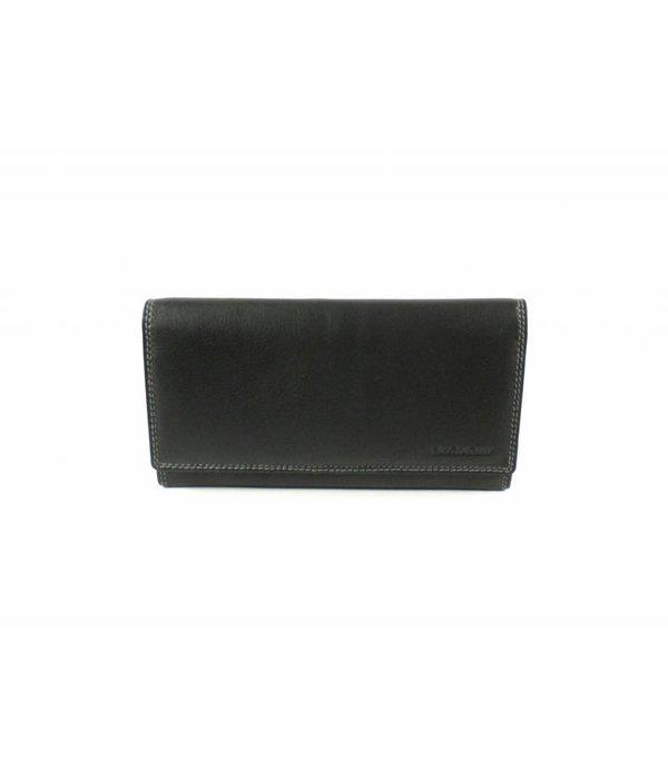 Burkely luxe zwarte MULTICOLOUR portemonnee uitgebreid