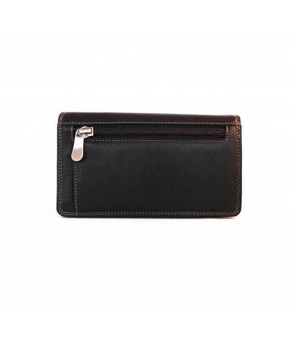 Burkely luxe zwarte MULTICOLOUR portemonnee