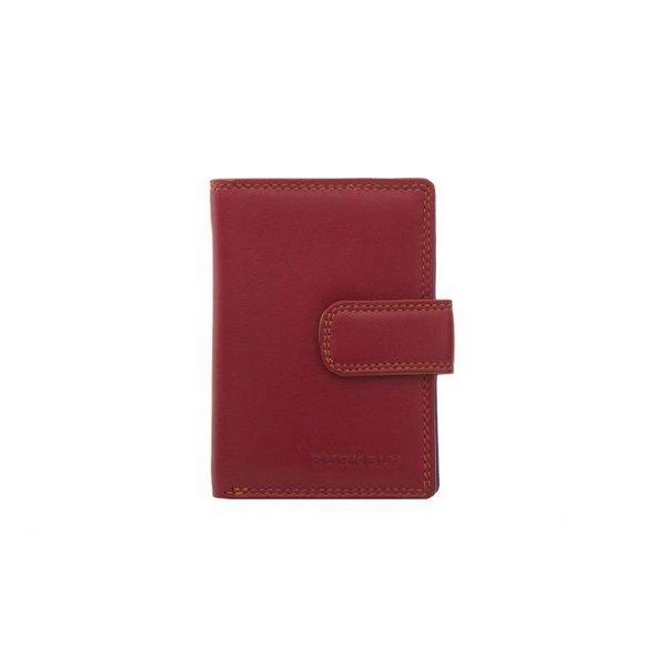 kleine luxe rode MULTICOLOUR portemonnee staand