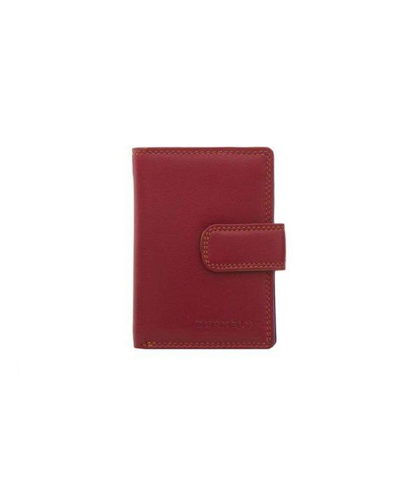 Burkely kleine luxe rode MULTICOLOUR portemonnee staand