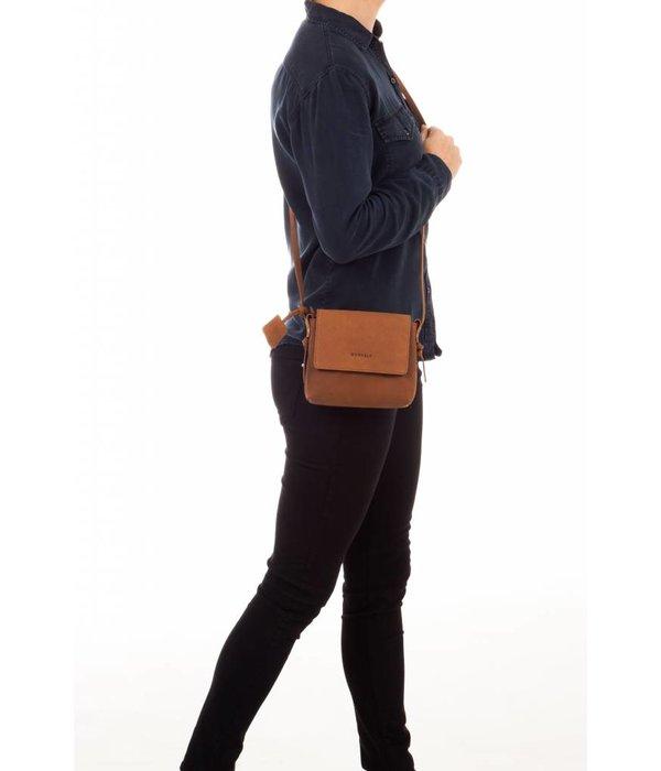 Burkely luxe sisal Lena X-OVER FLAP schoudertas