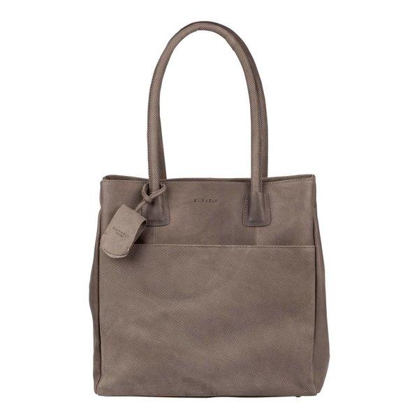 luxe grijze Lena shopper met voorvak