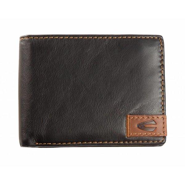 stoere zwarte billfold portemonnee California groot