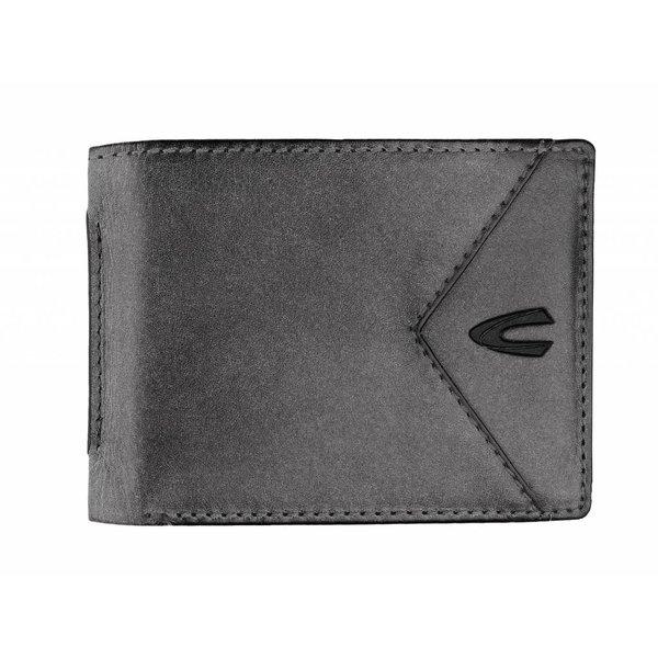 vintage grijze billfold portemonnee Cancun klein