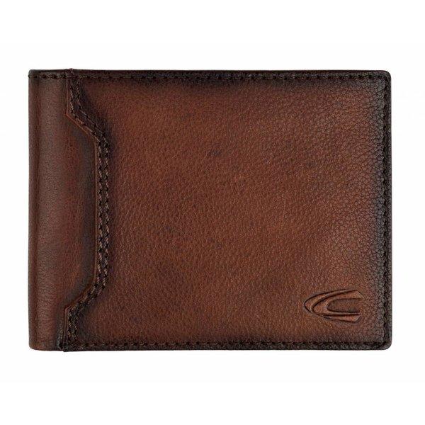 luxe bruine billfold portemonnee Toledo groot