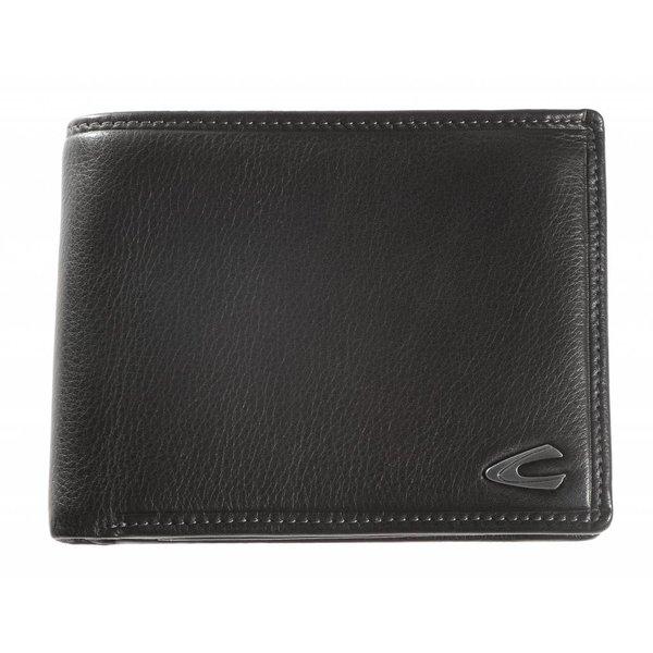 luxe zwarte billfold portemonnee Vegas groot