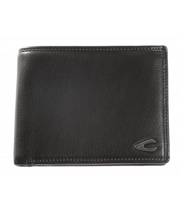Camel Active luxe zwarte billfold portemonnee Vegas groot