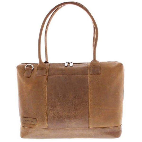 luxe cognac 15.6 inch dames laptoptas