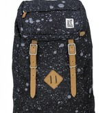 The Pack Society hippe zwarte premium backpack met spatten