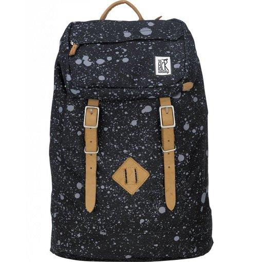 The Pack Society hippe zwarte premium backpack met spatten