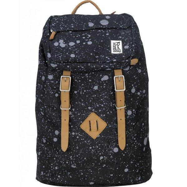 hippe zwarte premium backpack met spatten