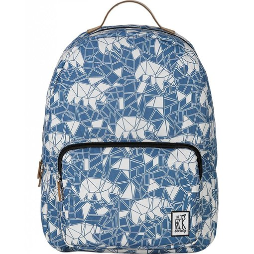 The Pack Society hippe blue bears classic backpack met lichtbruine details