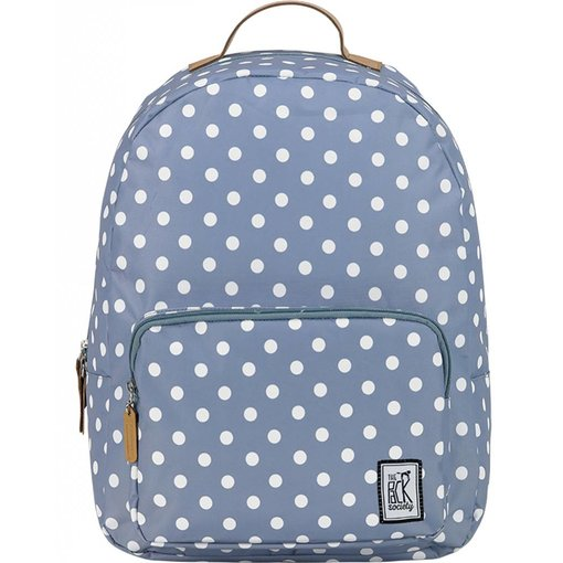 The Pack Society hippe grijze classic backpack met witte stippen