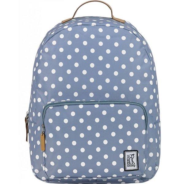 hippe grijze classic backpack met witte stippen