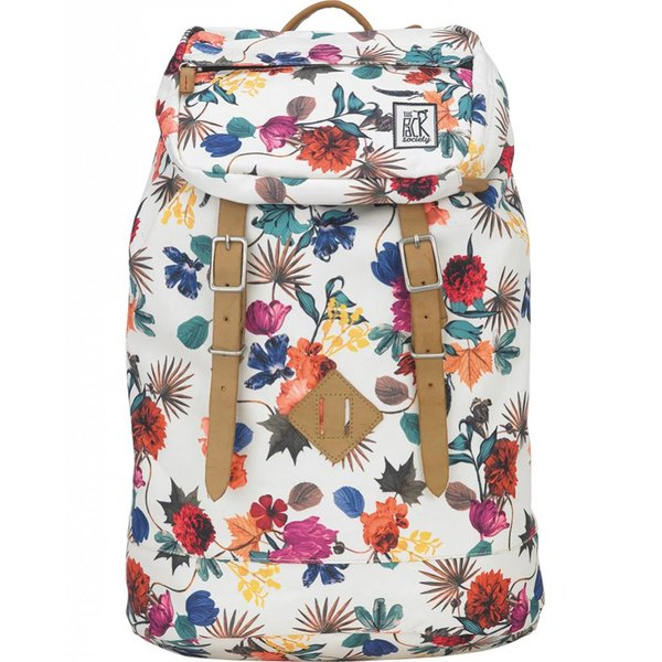 hippe multicolor flower premium backpack