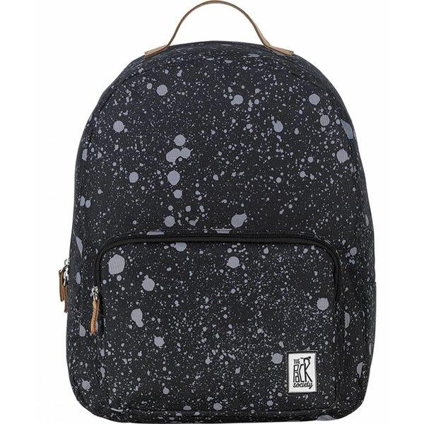 hippe zwarte classic backpack met spatten