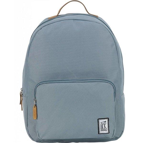 hippe grijze classic backpack met lichtbruine details