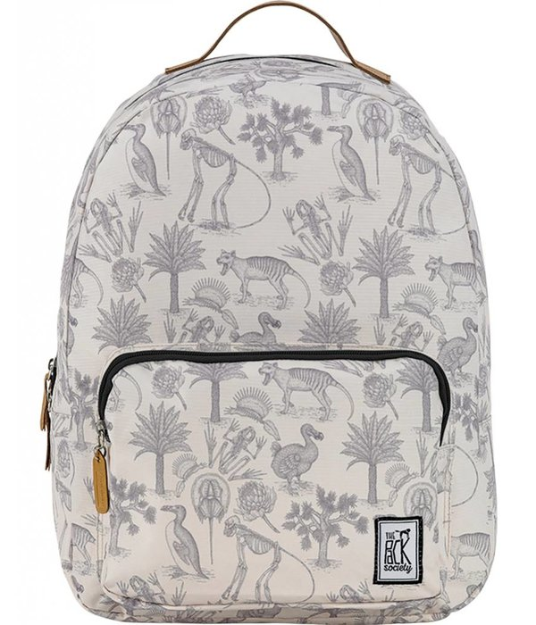The Pack Society hippe grijze Fossiel classic backpack