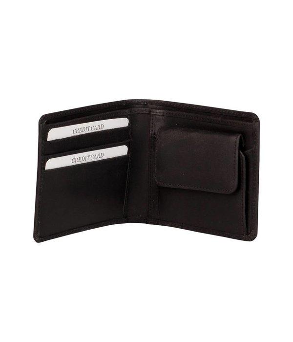 Burkely Dax Billfold Low - Zwart