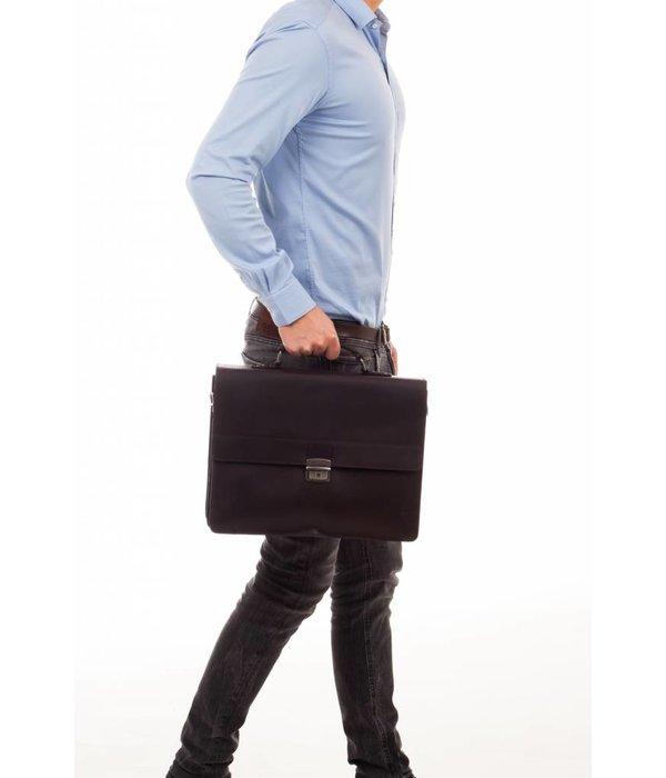 Burkely Dean Briefcase 3-comp - Zwart