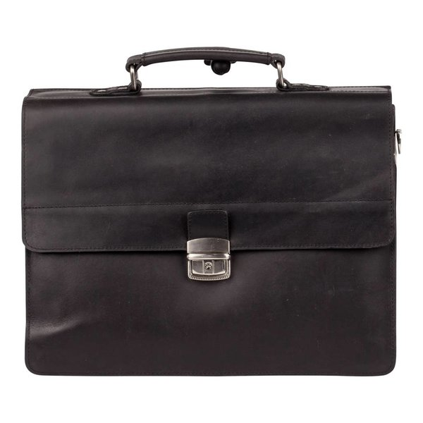 Dean Briefcase 3-comp - Zwart