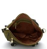 Fabienne Chapot Cecile bag suede - Donker groen