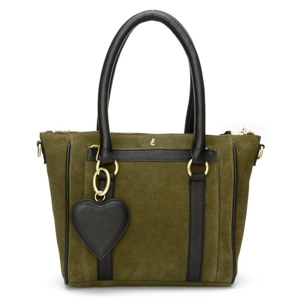 Cecile bag suede - Donker groen