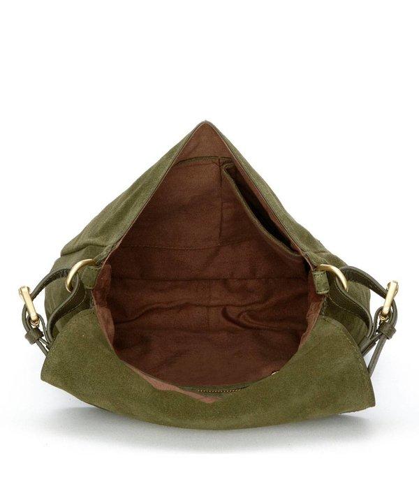 Fabienne Chapot Pauline Bag suede - Donker groen