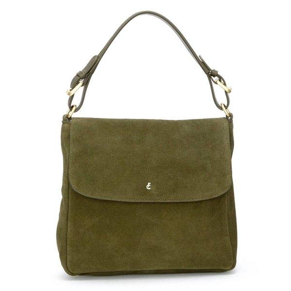 Pauline Bag suede - Donker groen