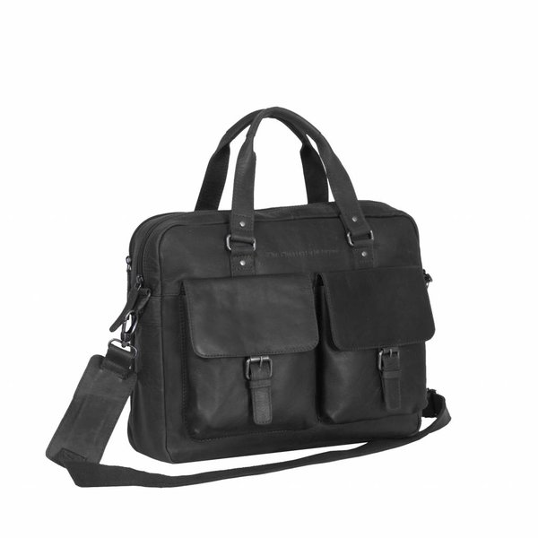 Shoulderbag George - Zwart
