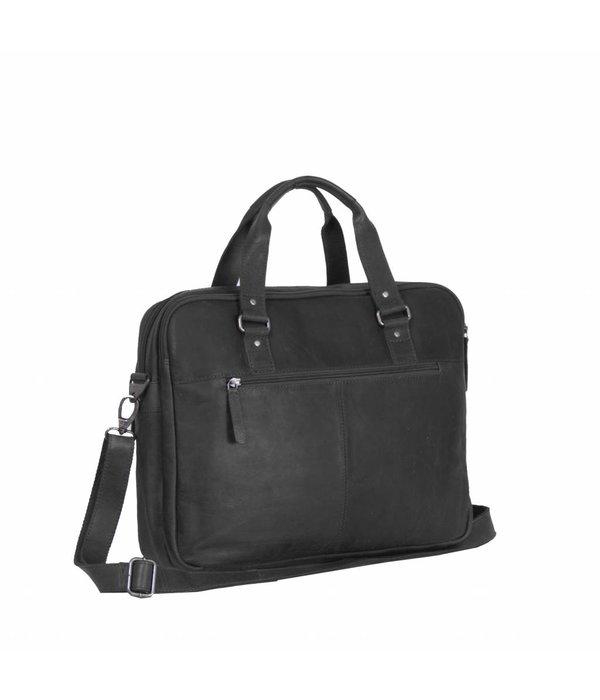 The Chesterfield Brand Shoulderbag George - Zwart