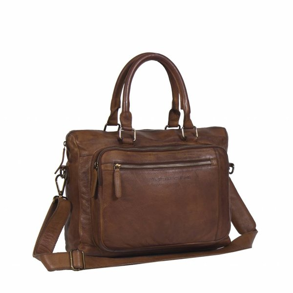Laptopbag Black Label - Cognac