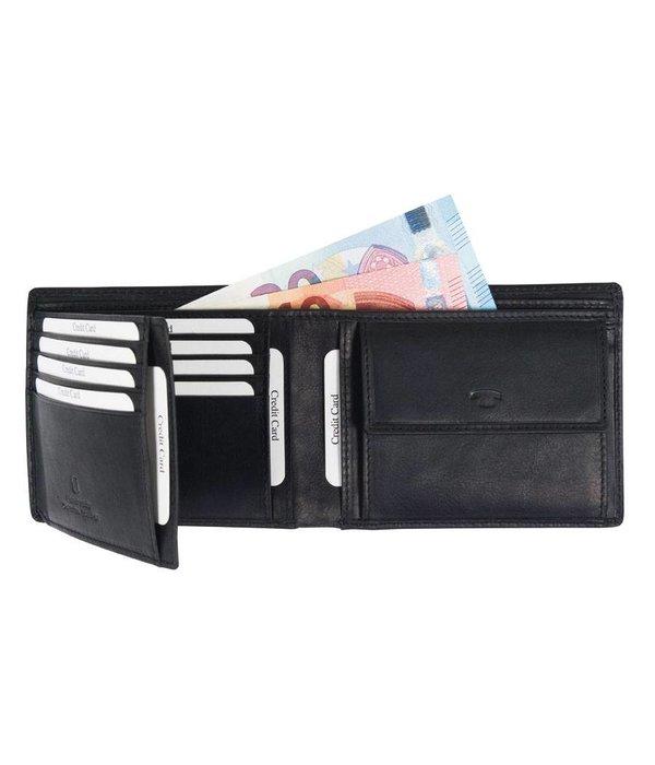 Tom Tailor Gary portemonnee horizontaal - zwart