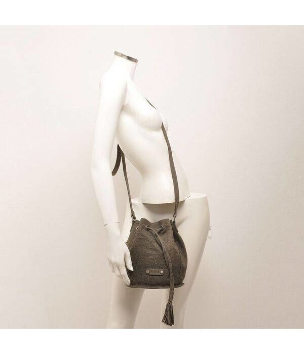 Berba Sierra Small Bucket Bag Donker Grijs