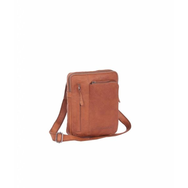 Shoulderbag 'Edward' Wax Pull up Cognac