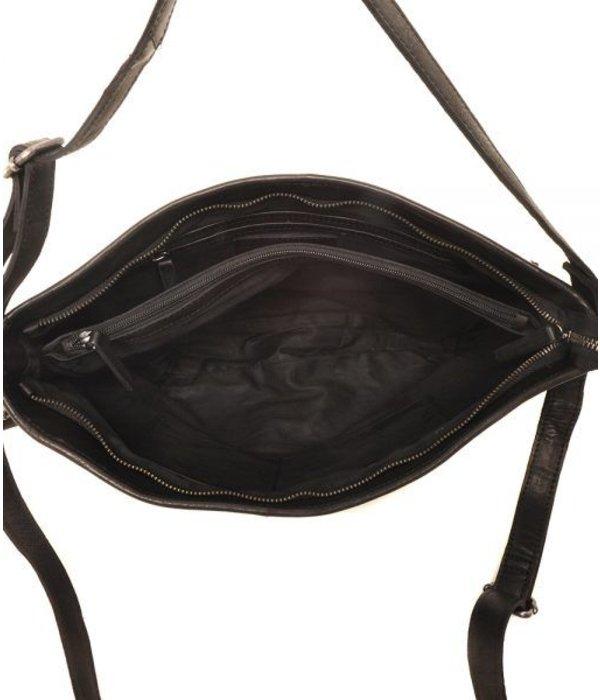 Berba Praktische en grote zwarte buideltas