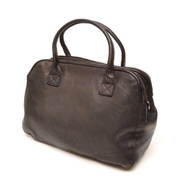 Mooie zwarte 3-vaks handtas
