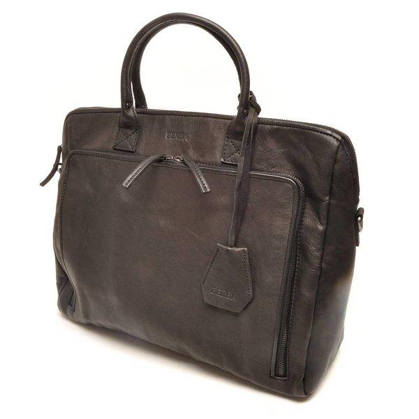 Zwarte A4 ''15-inch'' Businesstas voor dames.