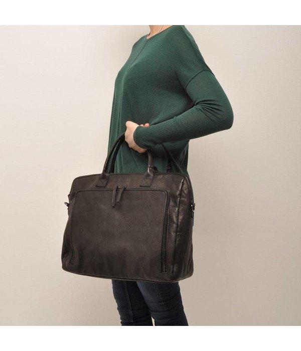 Berba Zwarte A4 ''15-inch'' Businesstas voor dames.