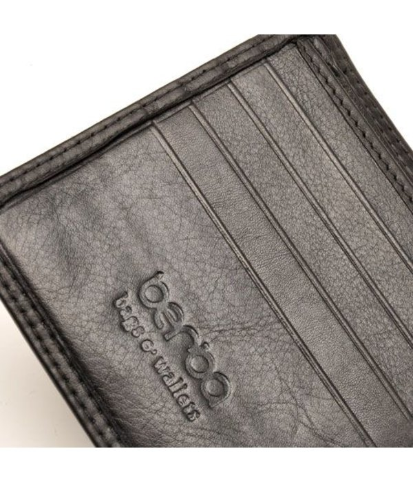 Berba Handzame zwarte ''Billfold'' portemonnee
