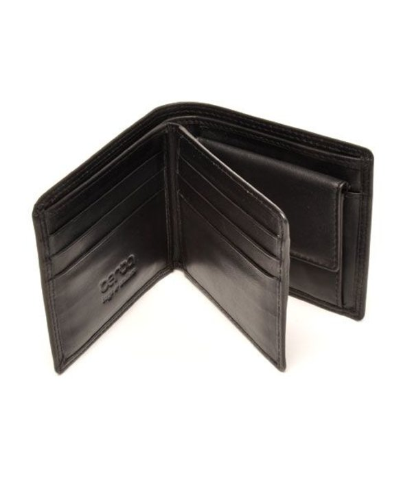 Berba Prachtige zwart met leergevoerde ''Billfold'' portemonnee