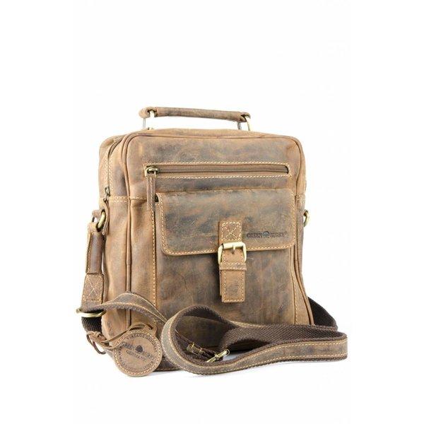 vintage bruine messenger tas