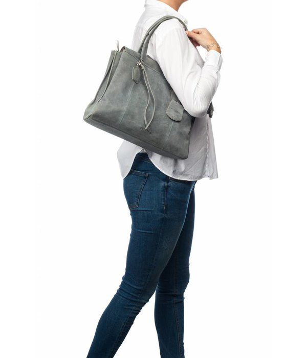 Burkely stacey star handbag big - Grijs