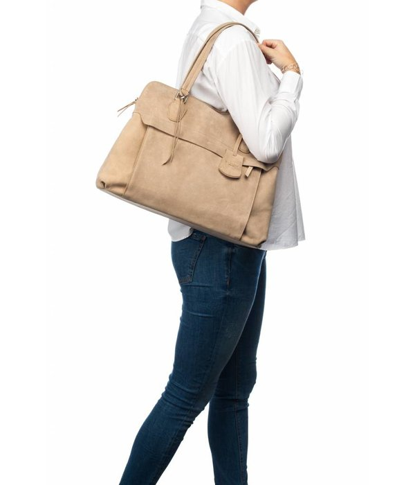 Burkely stacey star laptop bag - Naturel