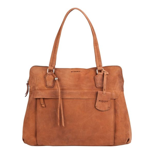 stacey star laptop bag - Cognac
