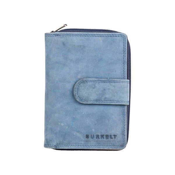 J Waxy wallet M - Blauw